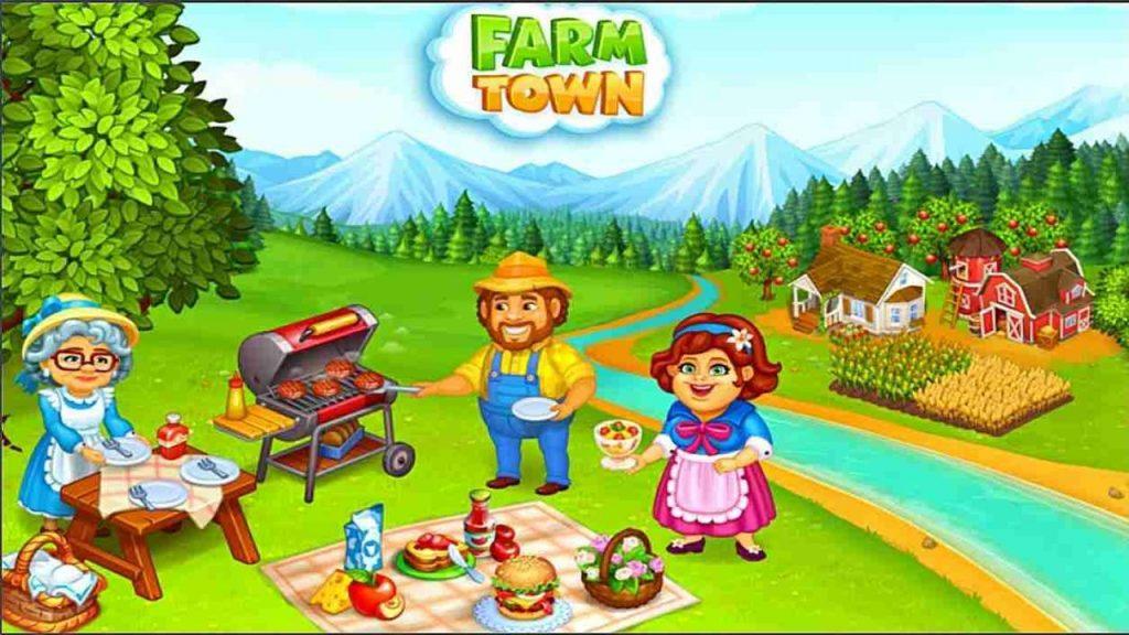 เกมทำฟาร์มน่าเล่น เกม Farm Town: Happy farming Day